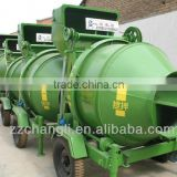 diesel type wheels design Towable concrete Cement mixer price, JZR350 concrete mixer machine