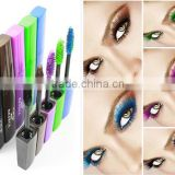 High quality Yorom waterproof color mascara in plastic tube hair color mascara Black Brown Purple Green Blue