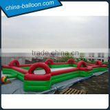 red color inflatable football court,giant inflatable sports field,outdoor soccer game arena