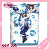Popular Shooting Game OW Mei Woman 4pcs Bedding Set Duvet Cover Bedsheet Pillowcase Twin /Full/King Size