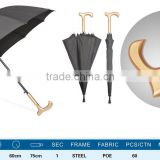8 ribs large sun and rain straight umbrella/anti uv protection sun umbrella/wooden golf walking stick umbrella