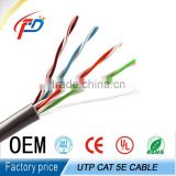 High quality UL certification BC conductor ethernet cable cat5e cmx EIA/TIA-568B Standards 1000ft/carton