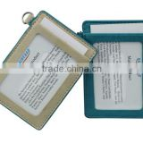 genuine leather name card holder Employment Pass card holder PU employee's card sleeves