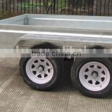 2 axle camping car trailer with jockey wheel