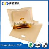 PTFE coating Material PTFE Reusable oven microwave cooking bags non stick Panini bag