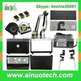 China Supplier Laptop Parts ABCDEH shell/keyboards/LCD hinge/CPU fan/DC jacks/adapter/battery