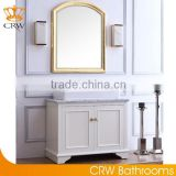 CRW freestanding country bathroom vanity cabinet furniture with sink white wood unique rustic bathroom vanities with tops