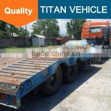 used low bed trailer , Second-hand low bed truck trailer excavator trailer