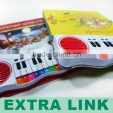Hard cover little electronic piano 3-D reading book printing