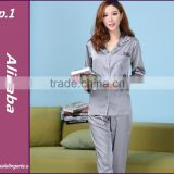 women Satin Silk Pajamas Set satin Twinset women Long Sleeves Length Pants Sleepwear Pyjamas Set