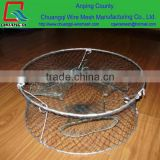 CQ folding 2 layer spring wire frame lobster crab cast fishing net black