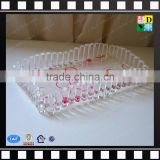 Wholesale acrylic fruit tray candy dessert serving tray bar display tray