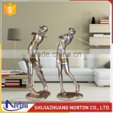 Abstract craft playing golf bronze statues for sale NTBH-C003LI