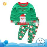 2017 New arrival kids wears christmas clothing santa claus pattern design kids christmas outfits
