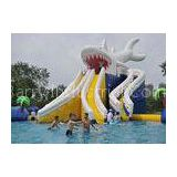 Commercial Giant Shark Blow Up Kid Pool With Fun Inflatable Pool Toys