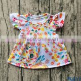 Hot Sale 18 inch Doll Toys Clothes Flora Print Doll Pearl Sleeves Dresses WQ913