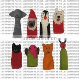 Custom design soft wool felted finger puppet/ Hand made Nepal finger puppet
