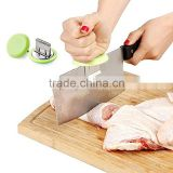 Kitchen Stainless Steel Knife Cap Cut Fish Chicken Bones Chopping Booster Knife Holder for Meat Cleaver Cooking Tools