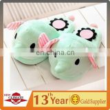 Green Elephant Plush slipper winter indoor slipper