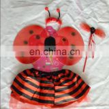 Ladybug baby girl fairy dress with butterfly wings FGWG-0132