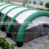 Pop sealed giant inflatable structure tent with netting