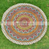 Star Mandala Hippie Round Beach Throw Indian Bohemian Hippie Cotton Handmade Table Cover Yoga Mat Beach throw Wall Hanging