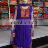 Anarkali stone work Suit Indian Pakistani Designer Party Wear Blue Salwar Kameez