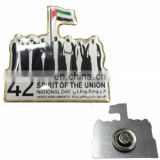 cheap promotional national day metal shiny nickel plating Uae lapel pin