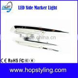 China supplier car LED light For F10 E60 E61 E81 E82 E87 E88 LED Silver Chromed sidemarker clear lens/Smoke lens