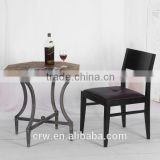RCH-4231 Top sale stackable black used leather dining chair