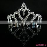 Fashion new design delicate rhinestone small princess crown for girls luxury crown and tiaras
