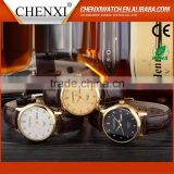 Top New Design Quartz Day/Date Italian Leather Straps Watches
