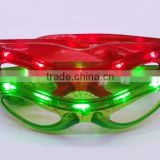 Led Spiderman eye glasses luminous flash led lights birthday/ Christmas party props Twinkling LED Glasses Frame