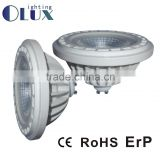 China supplier hot selling DC/AC12V G53 GU10 base led AR111 ES111 with 3 years warranty CE RoHS ERP
