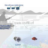 700TVL Waterproof CVBS Video Input 20M Wifi Transmitting Underwater Camera for Fishing with Built-in Rechargeable Battery