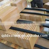 natural yellow wooden veins sandstone building material