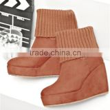 snow woman wedge hidden heel winter snow boots 12cm wedge heel shoes