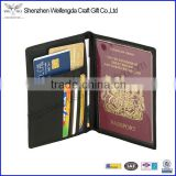 custom factory price stock PU leather passport holder business credit ID card holder