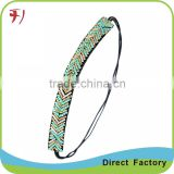 high quality trendy rhinestone knitted elastic hair band Image