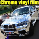2013 new model silver chrome mirror vinyl sticker with air bubble free , silver chrome film for motorcycle