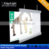 EdgeLight AF60 double frame LED lighting box for indoor advertising SINGLE SIDE WALKING WORDS SCREEN SLIM LIGHT case