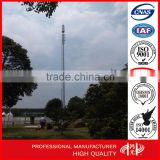 HDG Telescopic Telecommunication Towers , Monopole Cell Tower With Lights                                                                         Quality Choice