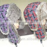 China manufacture wholesale fur hat/ russian style fur hat/ faux fur animal hat hood with paws