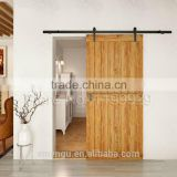 European Fashion Solid Wooden Door Hardware Sliding Barn Door Track Suit