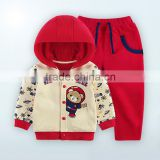 Cotton baby suit long sleeve 2pcs New Autumn Winter Boy Suits Thermal Children Tracksuit Kids Clothing Suit Boys