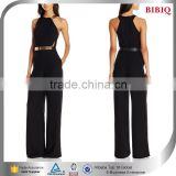 designer women apparel latin american dresses jumpsuit rompers clubwear black dress with gold belt sleevless dresses