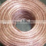 bare braided copper wire 005mm for transformer, breaker circuit