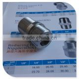 "Customizing 5/8"" G male stainless steel hydraulic round nipple"