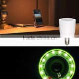 Wireless Bluetooth Audio Speaker+E27 LED Bulb Color Temperature Adjustable With RF Remote Control for iPhone iPad Samsung Galay