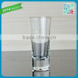 2015 Top selling thick bottom shot glasses machine blown Popullar vodka short glass cup